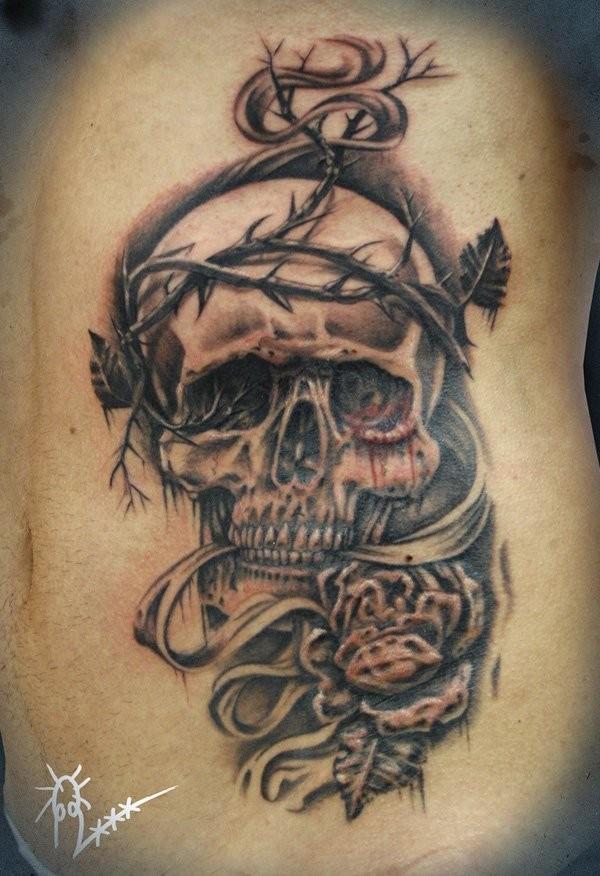 tattoo mit uhr und drachen