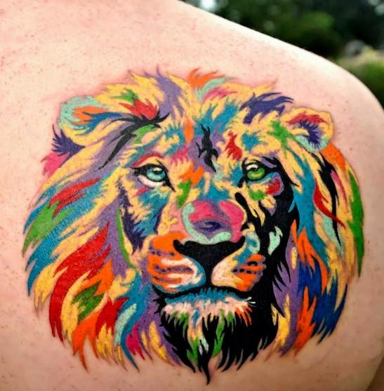 Colorful Lion Tattoo Tattoo Tattooed Tattoos: Genial Löwe Bilder