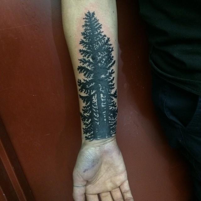 Tall Forest Tattoo Design