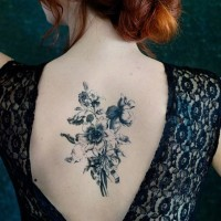 fantastisches schwarze tinte herz und kardiogramm tattoo am handgelenk. Black Bedroom Furniture Sets. Home Design Ideas