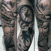 mexikanischer stil schwarzes rmel tattoo portr t der frau. Black Bedroom Furniture Sets. Home Design Ideas