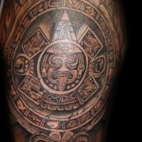 halskette im stil kultur der azteken tattoo an der brust. Black Bedroom Furniture Sets. Home Design Ideas