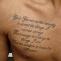 tattoo von n hmaschine auf der brust. Black Bedroom Furniture Sets. Home Design Ideas