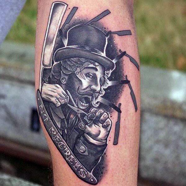 Rasierklinge Tattoo